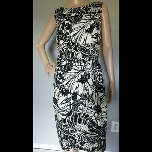 Jones New York   Black & White Floral Shift Dress